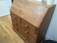 Solid wood office desk/bureau