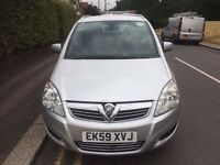 2009 59 VAUXHALL ZAFIRA 1.6 DESIGN 7 SEATER PCO BADGED TO DEC WITH CERTIFICATE