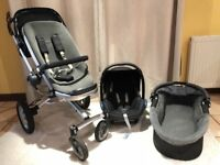 Quinny Buzz Travel System (Carry cot, pushair & Maxi-Cosi car seat) and extras