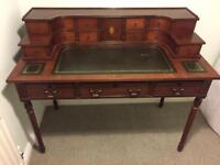 Antique style mahogany writing desk