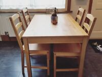 Dining Table with 4 Chairs, IKEA Jokkmokk