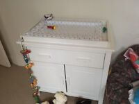 Changing table with drawer and shelving