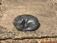 Cat sculpture for indoor or outdoor use or as a door stop
