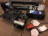 T-shirt Printing Business ( Vinyl cutter, 5 in 1 Heat press & Printer )