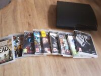 Playstation 3, games, wires and contols