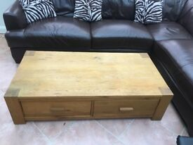 Light Oak Laquered Coffee Table
