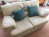 Leather couch- 2 seater nice condition £15