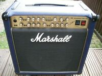 Marshall 6101 30th Anniversary 3-channel all valve amplifier for electric guitar - 1992 - Blue tolex