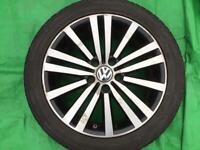 "17"" GENUINE VW MINNEAPOLIS B6/7 PASSAT SPORT / VW GOLF ALLOY WHEELS ALLOYS TYRES WHEELS RIMS"