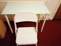 Nice and clean ikea glass desk with chair in excellent condition.