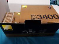 Nikon D3400 Boxed AS NEW + Nikon 18-55mm VR Lens -also Boxed