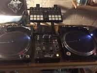 DJ set up pioneer serato