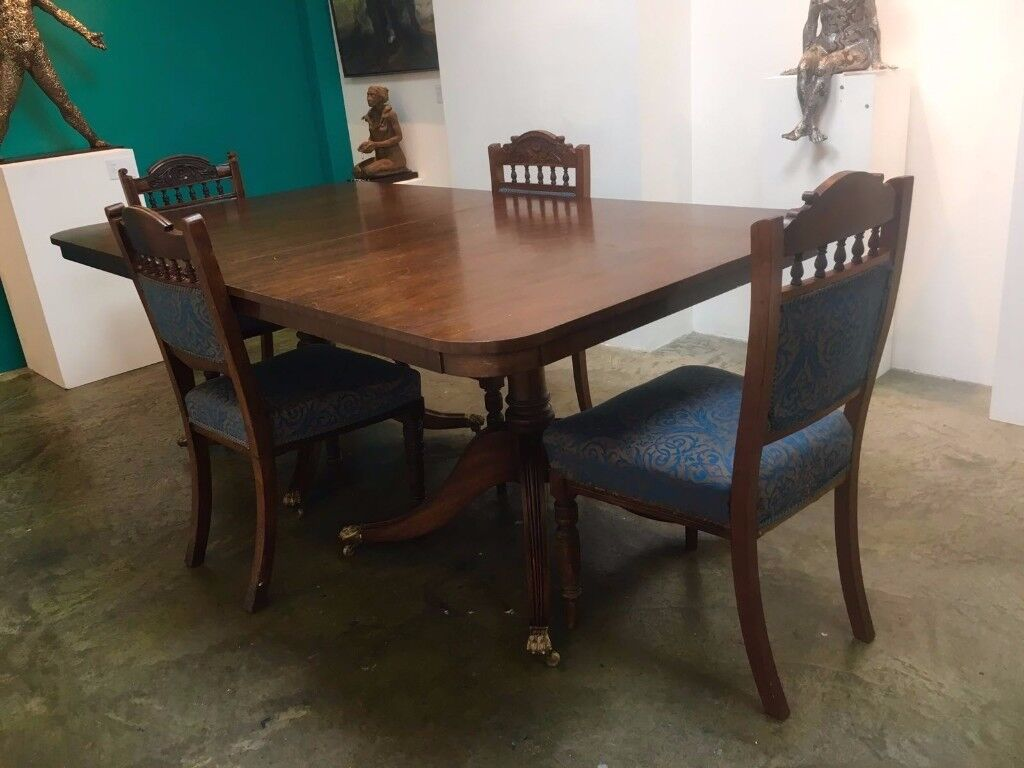 Large Antique Table with Lion Legs