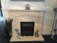 Stone marble fireplace