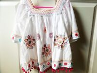5 GIRLS SUMMER BUNDLE, AGE 7-8 NEW WHITE JEANS JEGGINGS,FAT FACE,2 MATTHEW WILLIAMSON TOPS,SWIMSUIT