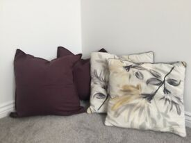 Matching set of 2 cushion covers