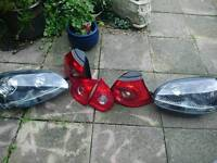 volkswagen Golf Mark 5 GTI Golf front and rear light units