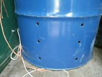 Oil drum 250l big one fire pit burning bin for the garden