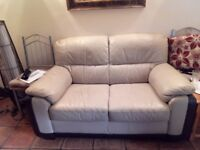 Leather sofa and chair good condition arm on chair slightly faded