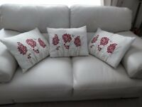 3 New, High quality embroidered cushions.