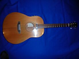 UK Hand Built, all Solid Dreadnought Electro Acoustic guitar