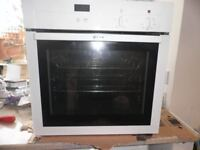 Neff integrated oven, White surround. Model Number B14M42.OGB