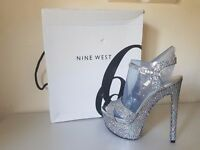 Ladies - NINE WEST - Glitter Heels - Size 7 - RRP: £155 - IMMACULATE CONDITION