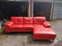 Dfs leather corner sofa