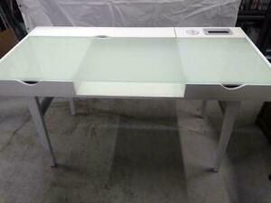 Brassex 4664 Office Desk with Tempered Glass Top and 2 Storage Drawers, White, (Open box) **READ: White colour only** Markham / York Region Toronto (GTA) Preview
