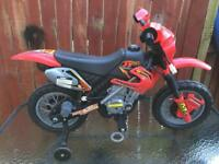 Electric battery powered motorcycle (red)
