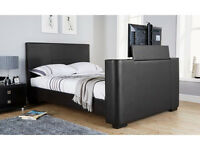 Newark Double Electric TV Bed. Black - New
