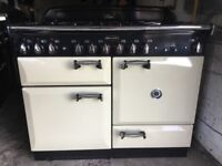 Rangemaster Elan 110 Cream Dual Fuel Cooker in pristine condition