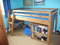 Pine Cabin/High Bed. Domino by John Lewis. Good condition including Mattress.