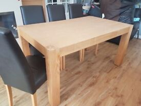 Light oak veneer sturdy dining table (8 seater)