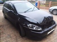 2013 VW GOLF 1.6 TDI S BLUEMOTION TECH,MILEAGE ONLY 37000,DAMAGE,SALVAGE,SPARES