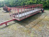 Glendale towable sheep feed trailer livestock tractor farm