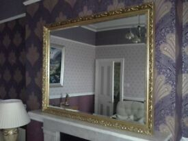 Large Gold Anitque Style Wall Mirror
