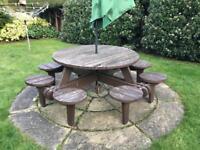 Large pub garden table