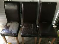 FREE - 3x Faux Leather Chairs