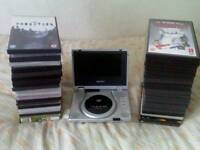 Matsui Portable DVD Player + 40 Movie DVDs