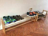 Extending and Stackable Steel Shoe Rack Wood-effect from Lakeland