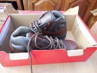 mens hi tec brown leather boots size 10