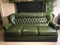 vintage racing green chesterfield