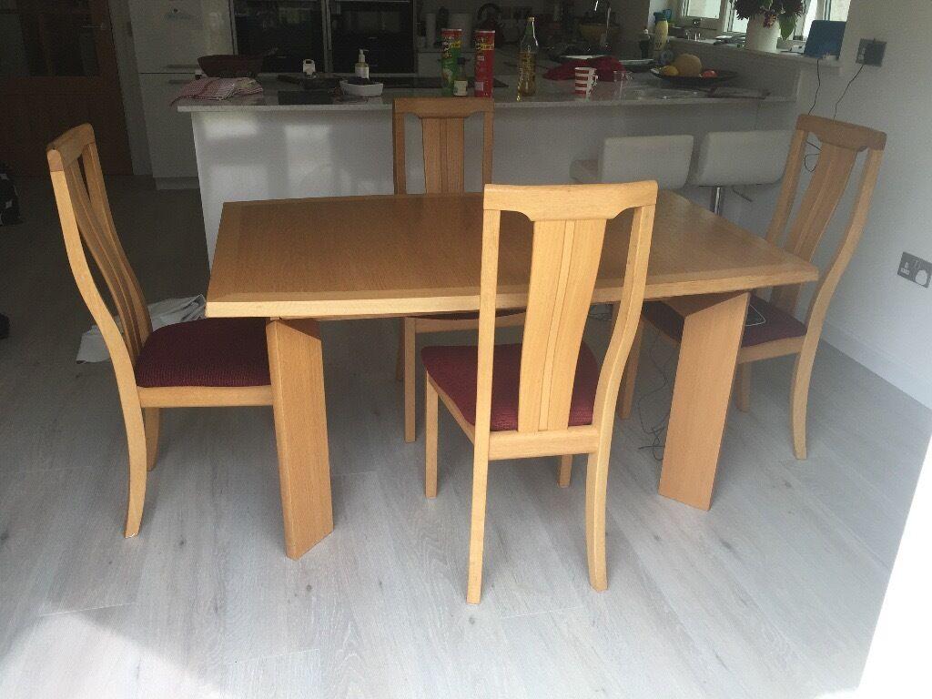 skovby dining room suite danish light oak furniture in