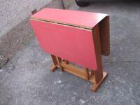 DROP LEAF TABLE KITCHEN TABLE FOLDING TABLE GATE LEG TABLE RETRO 1960's TABLE