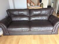 Beautiful leather 3 seater settee