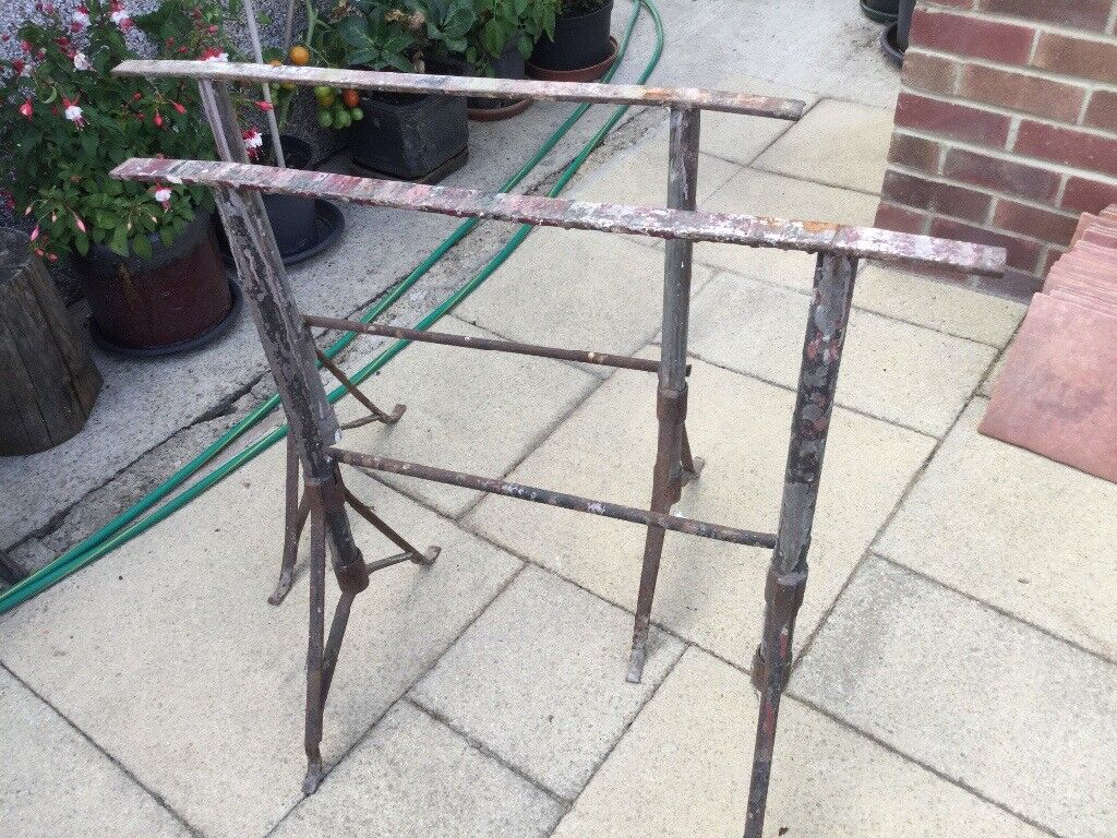 Trestles x 2. Suitable for table top. Use for car boots, building ...