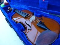 """Full Size Violin """"Stentor Student 1"""" with a Hard Case, Shoulder Rest, Bow and Rosin"""