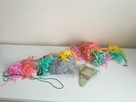 Tiger Tassel Garland and Blue & Gold Bunting
