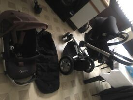 Quinny Buzz pram full set with car seat